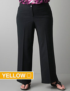 Wide leg trouser with Right Fit Technology by Lane Bryant