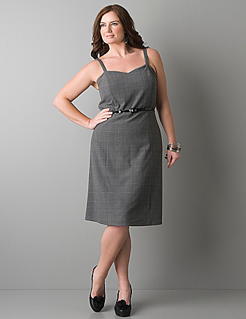 Glen plaid sweetheart dress by Lane Bryant