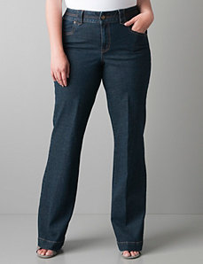 Crosshatch denim trouser by Lane Bryant