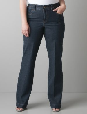 Crosshatch denim trouser