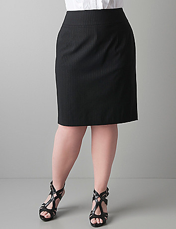Plus sized Pinstripe pencil skirt by Lane Bryant