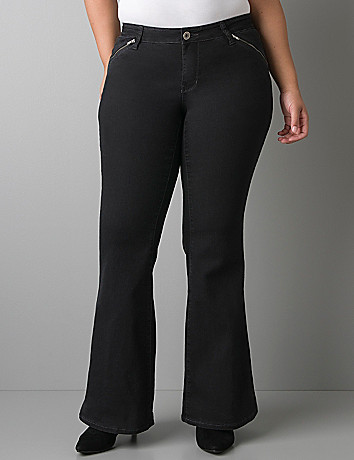 Black Knight flare jean by DKNY JEANS