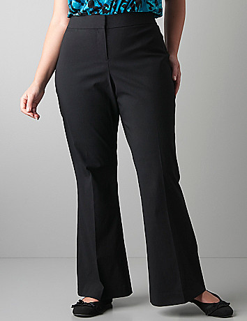 Full figured flared leg trouser