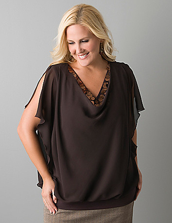 Spangled band bottom blouse by Lane Bryant