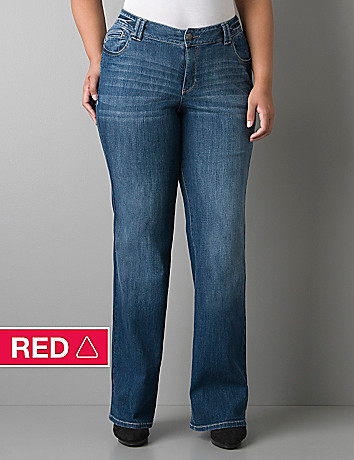 Echo wash bootcut jean by Lane Bryant