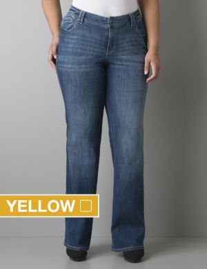 Echo wash bootcut jean with Right Fit Technology