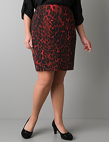 Colored leopard pencil skirt by Lane Bryant