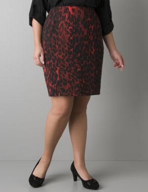 Colored leopard pencil skirt