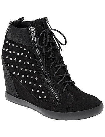 Wide Width Studded Hidden Wedge Sneakers by Lane Bryant