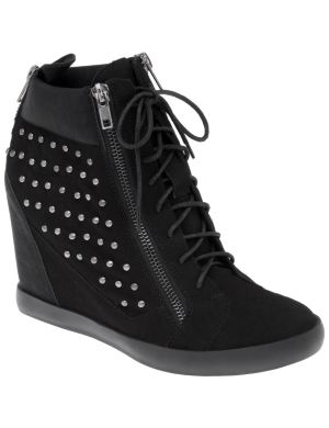 Wedge high top sneaker