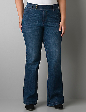 Sabrina flare jean with Tighter Tummy Technology  by Lane Bryant