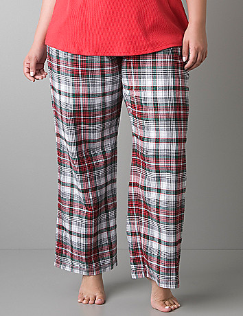 Sparkle plaid woven sleep pant by Cacique