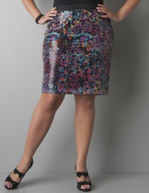 Multicolor sequin skirt