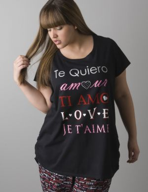 Language of love sleep tee