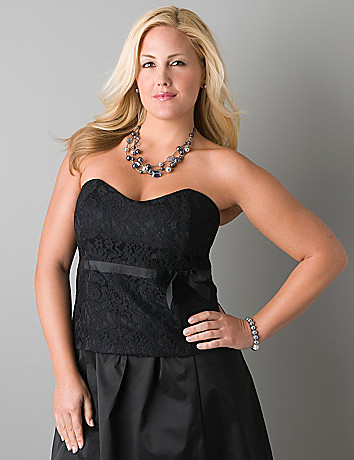 Lace bustier top by Lane Bryant