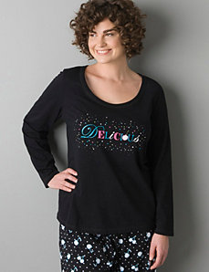 Delicious embellished sleep shirt by Cacique