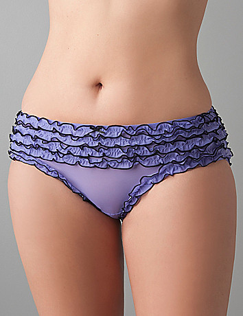 Sheer ruffled hipster panty by Cacique