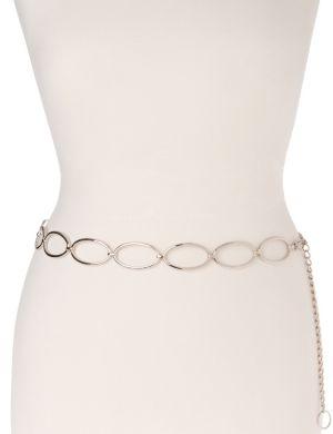 Silvertone oval chain belt