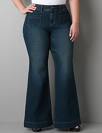 Plus size Denim bell bottom by Lane Bryant