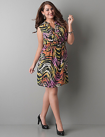Animal print smocked waist dress by Lane Bryant