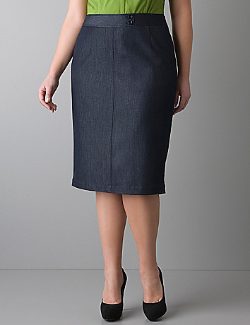 Refined denim pencil skirt by Lane Bryant