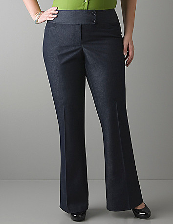 Refined denim flare pant by Lane Bryant