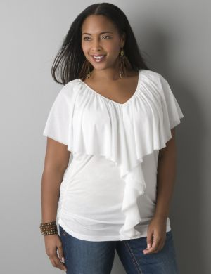 Cascade ruffle top by Seven7