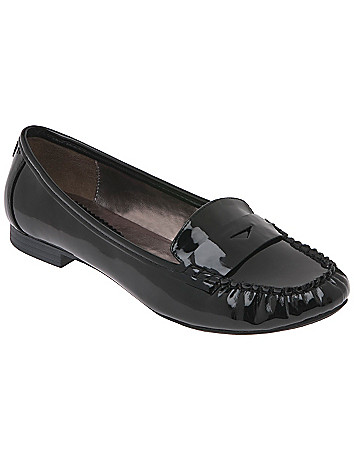 Wide width Patent loafer by Lane Bryant
