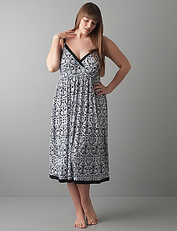 Tapestry print night gown by Cacique