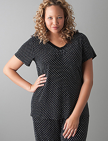 Polka dot sleep top by Cacique