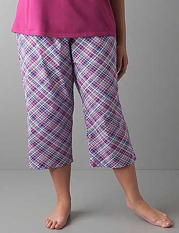 Plaid cropped sleep pant by Cacique
