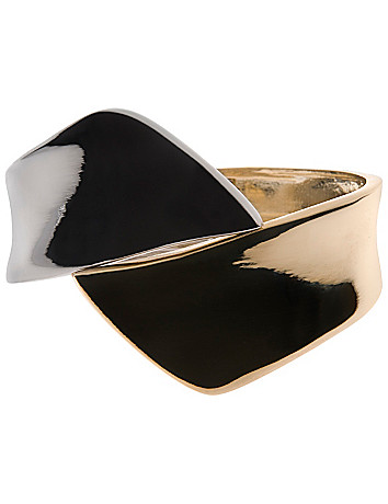 Two tone twist cuff bracelet by Lane Bryant