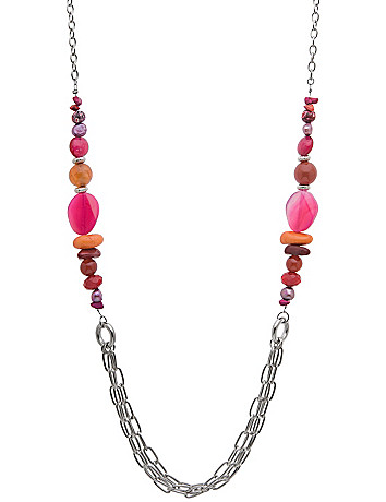 Bead & chain necklace by Lane Bryant