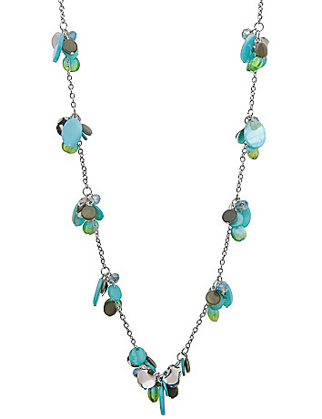 Long bead cluster necklace by Lane Bryant