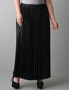 Knife pleat long skirt by Lane Bryant