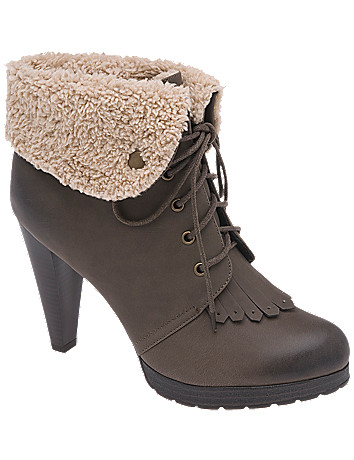 Fleece cuff hiker bootie by Lane Bryant
