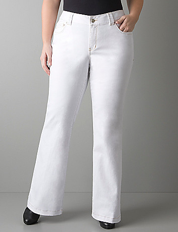 Full figure White flare jean by Lane Bryant