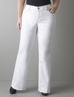 White flare jean