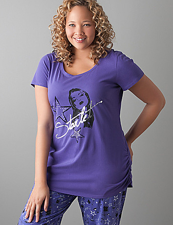 Starlet embellished sleep tee by Cacique