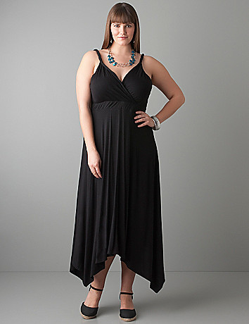 Uneven hem dress by Lane Bryant