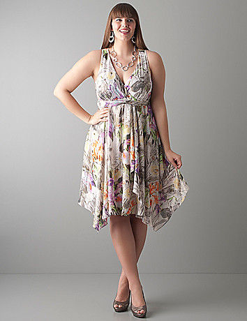 Iris uneven hem dress by Lane Bryant
