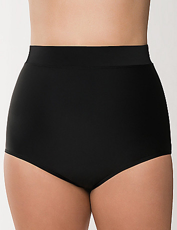 Slimming Ultra high waist swim brief in plus sizes