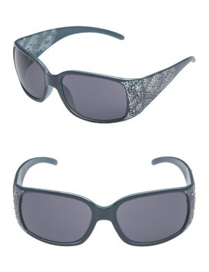 Embellished paisley sunglasses