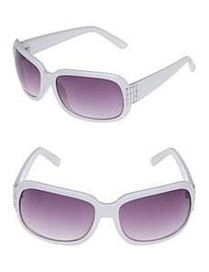 Square temple sunglasses by Lane Bryant