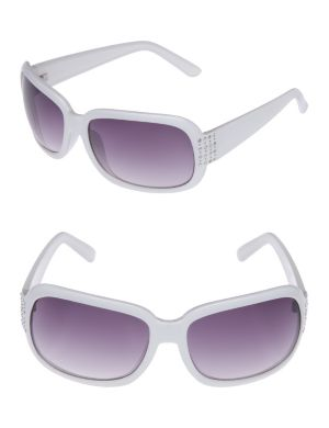 Square temple sunglasses