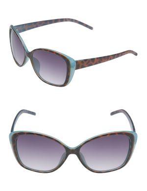 Color pop tortoiseshell sunglasses