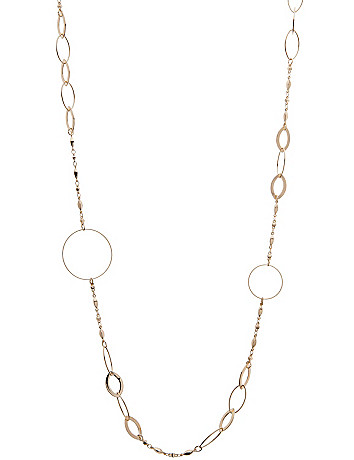 Goldtone link necklace by Lane Bryant