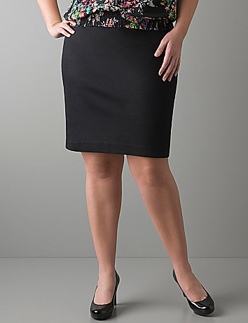 Full figure Sateen pencil skirt by Lane Bryant