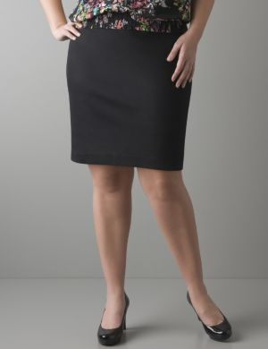 Sateen pencil skirt