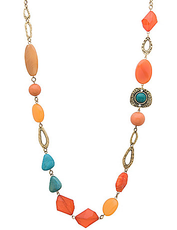 Mixed stone chain necklace by Lane Bryant